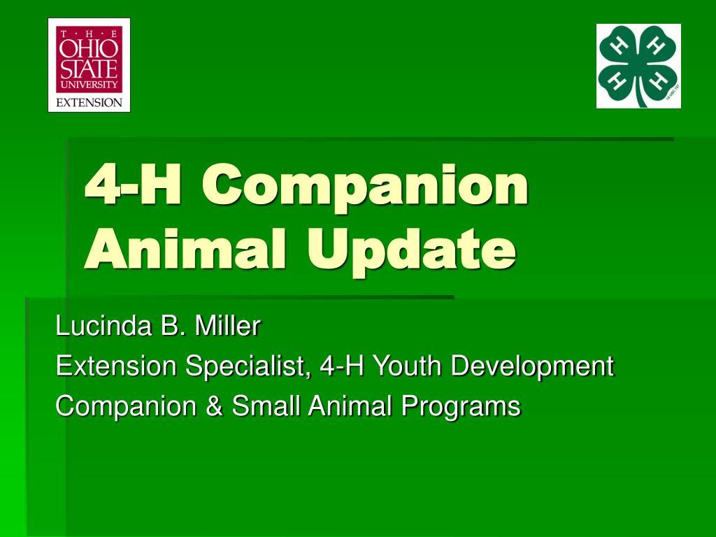 4-H Companion Animal Update