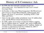 history of e commerce ads