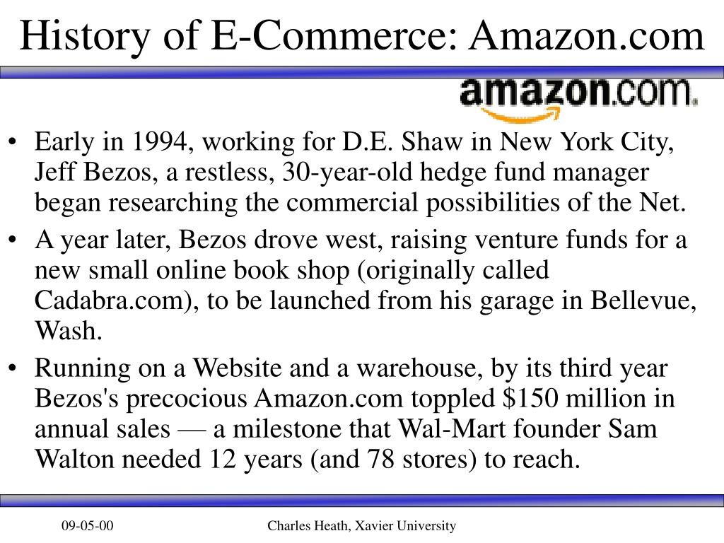 History of E-Commerce: Amazon.com