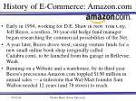 history of e commerce amazon com
