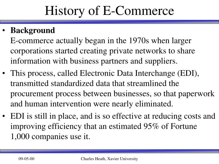 History of e commerce