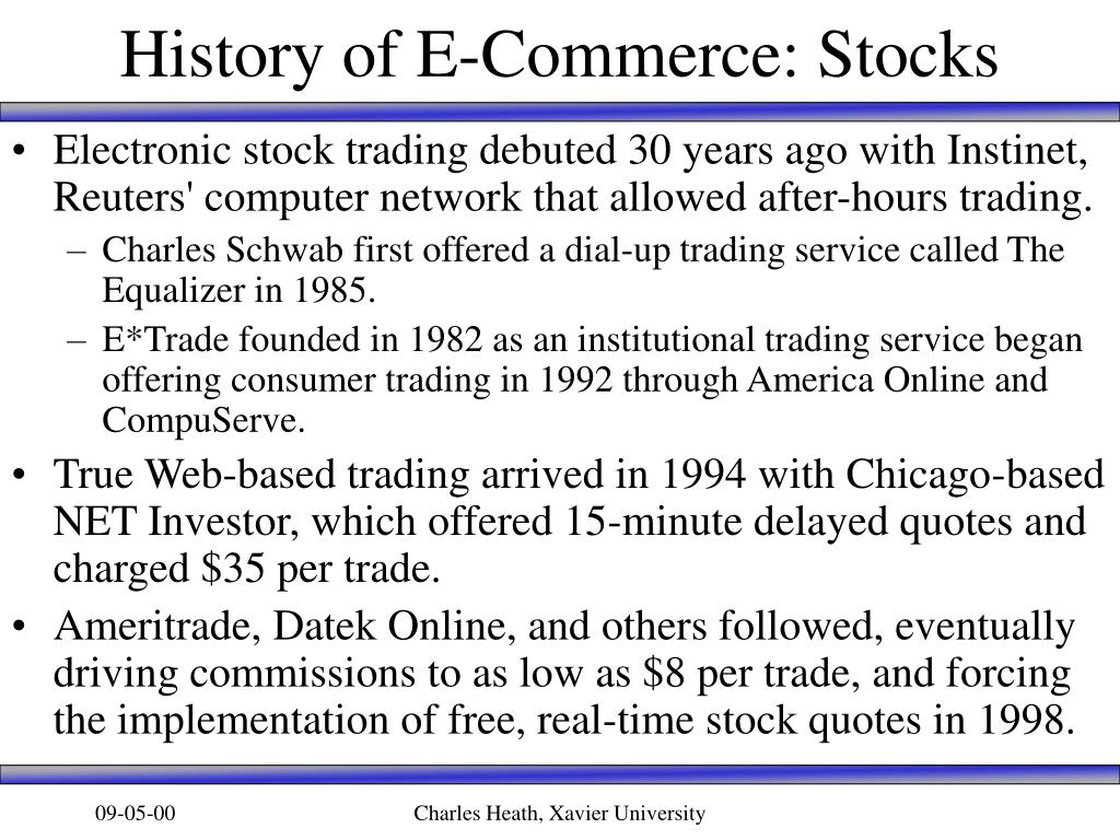 History of E-Commerce: Stocks