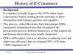 history of e commerce