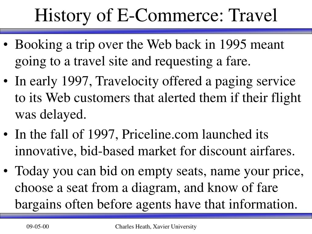 History of E-Commerce: Travel