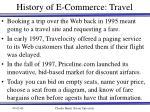 history of e commerce travel