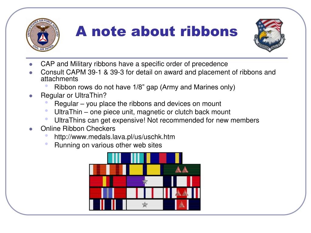 A note about ribbons