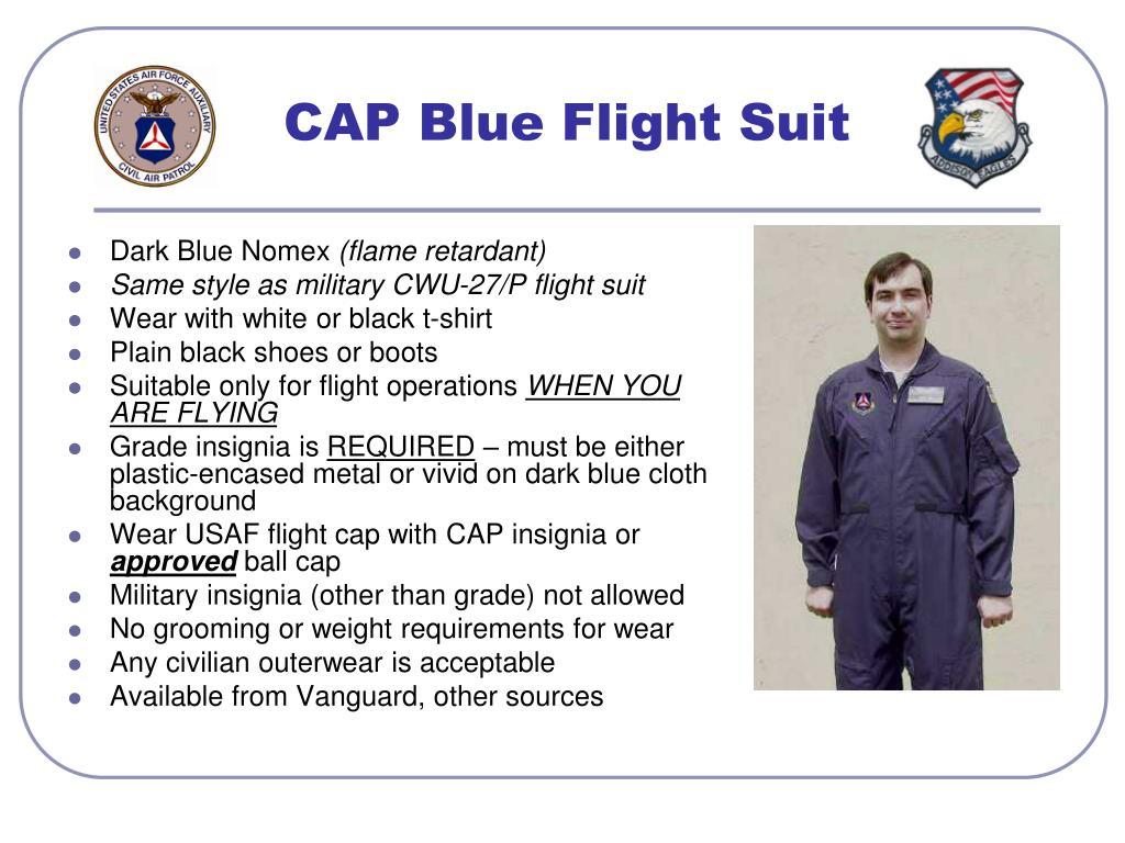 CAP Blue Flight Suit