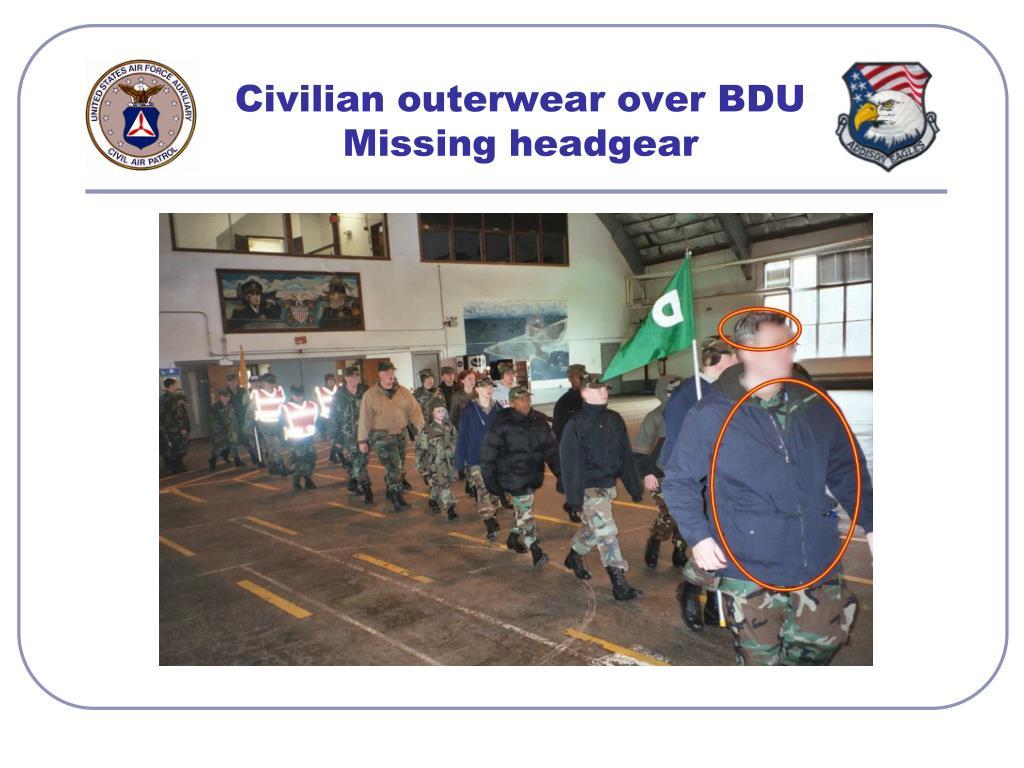 Civilian outerwear over BDU