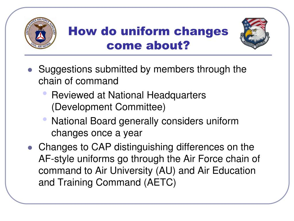 How do uniform changes come about?