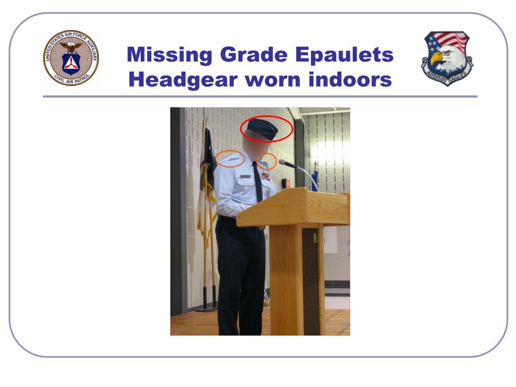 Missing Grade Epaulets