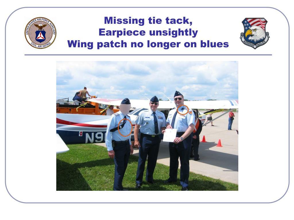 Missing tie tack,