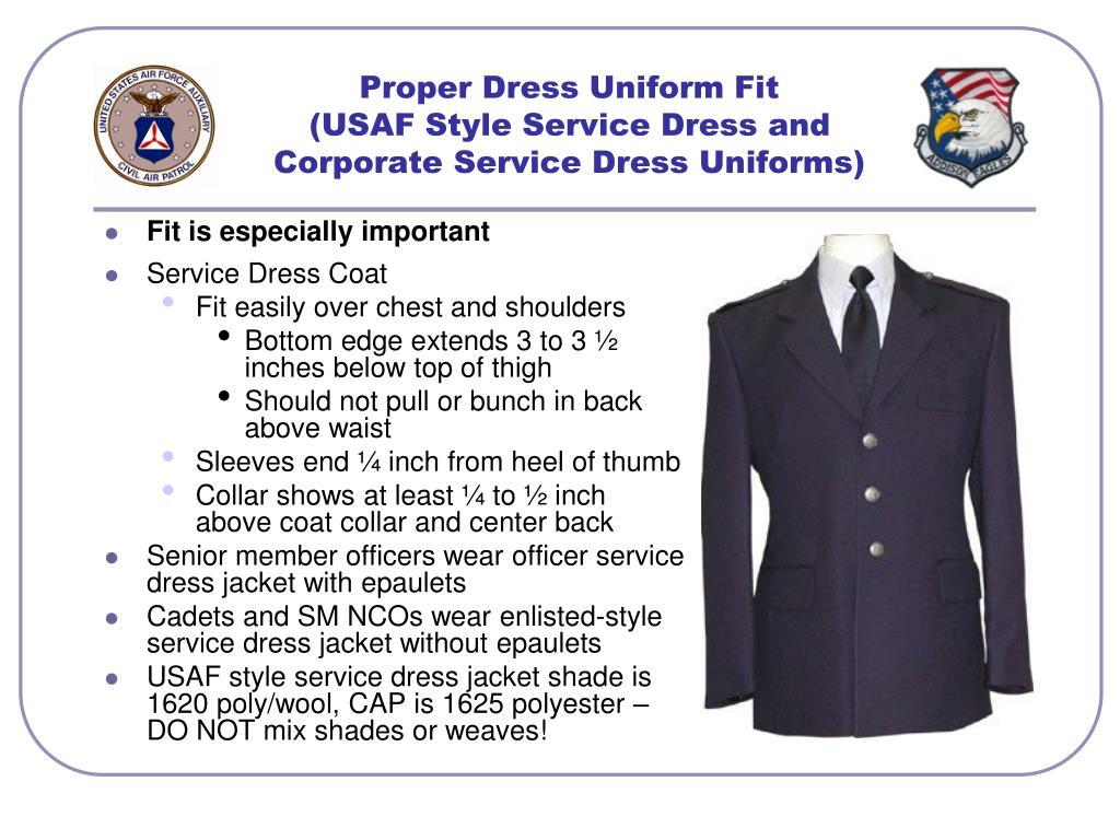 Proper Dress Uniform Fit