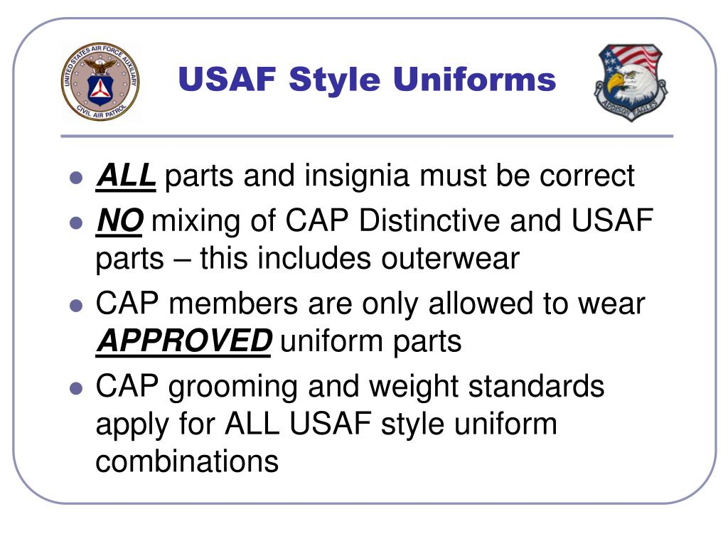 USAF Style Uniforms