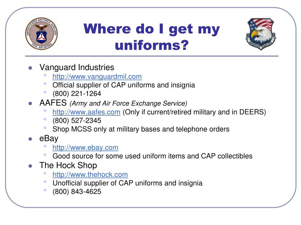 Where do I get my uniforms?