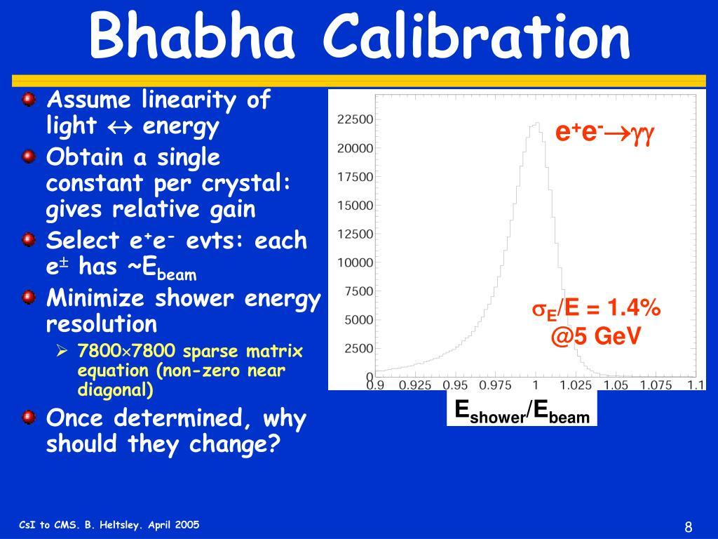 Bhabha Calibration