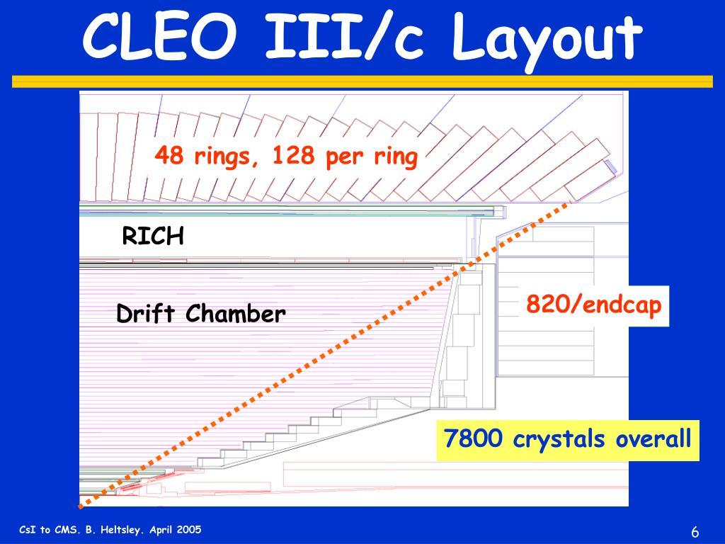 CLEO III/c Layout