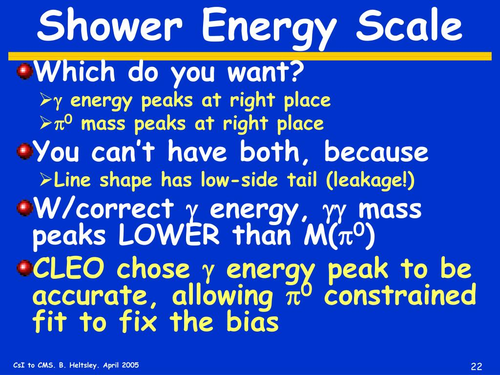 Shower Energy Scale