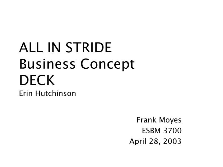 All in stride business concept deck erin hutchinson