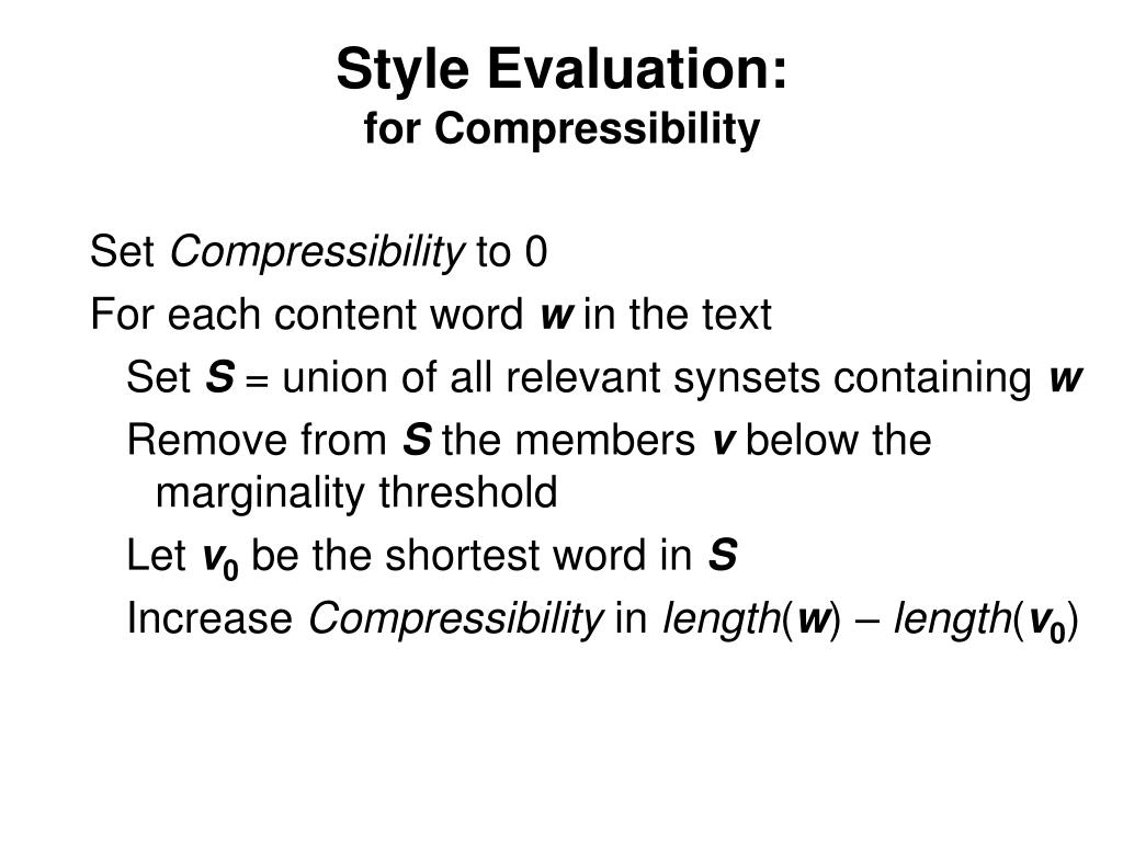 Style Evaluation:
