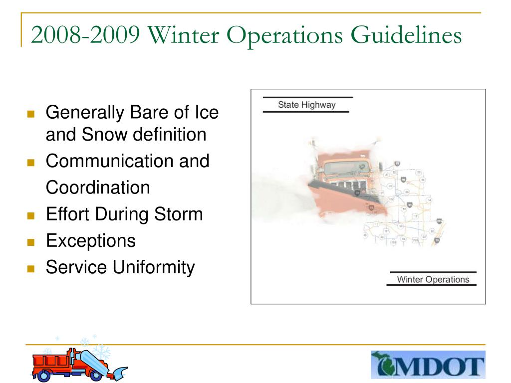 2008-2009 Winter Operations Guidelines