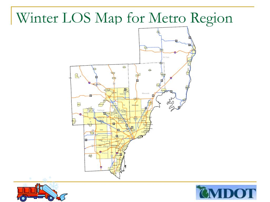 Winter LOS Map for Metro Region