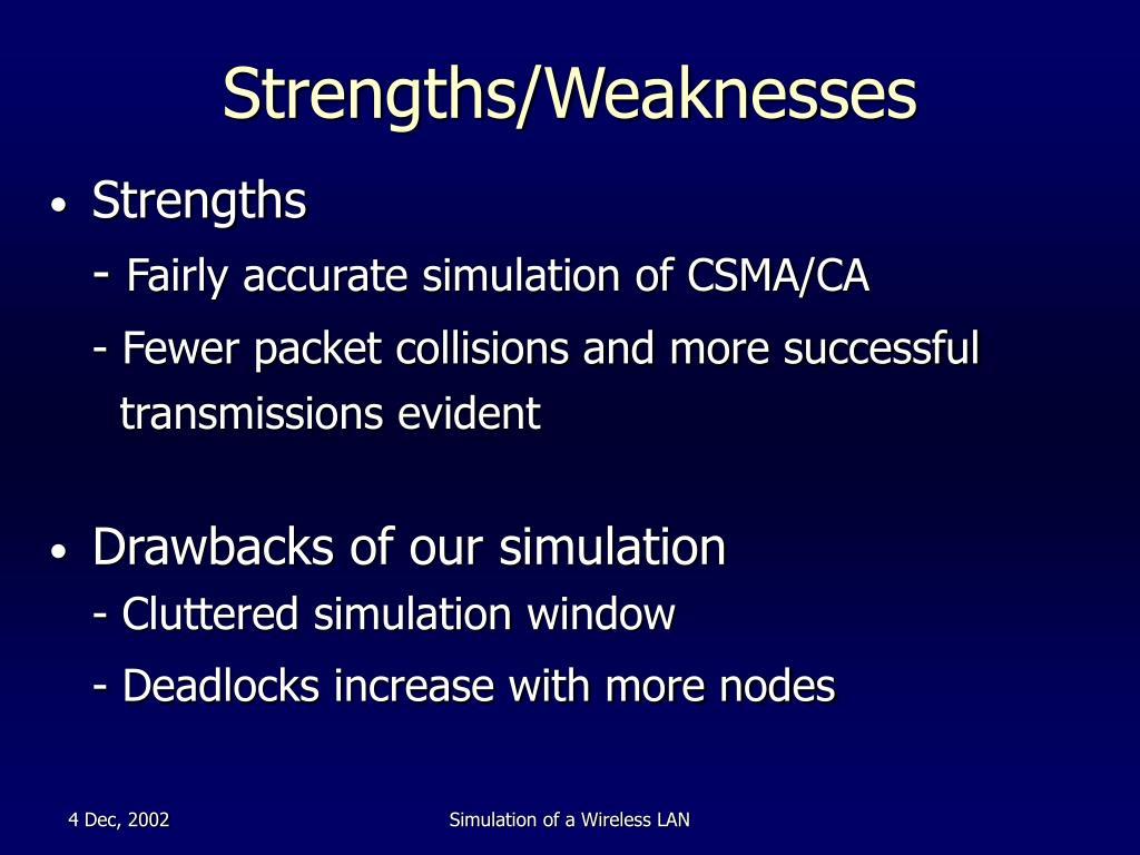 Strengths/Weaknesses