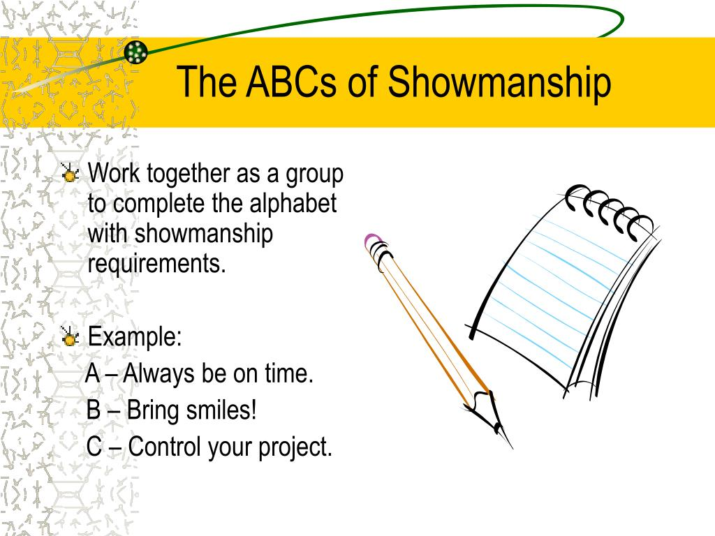 The ABCs of Showmanship