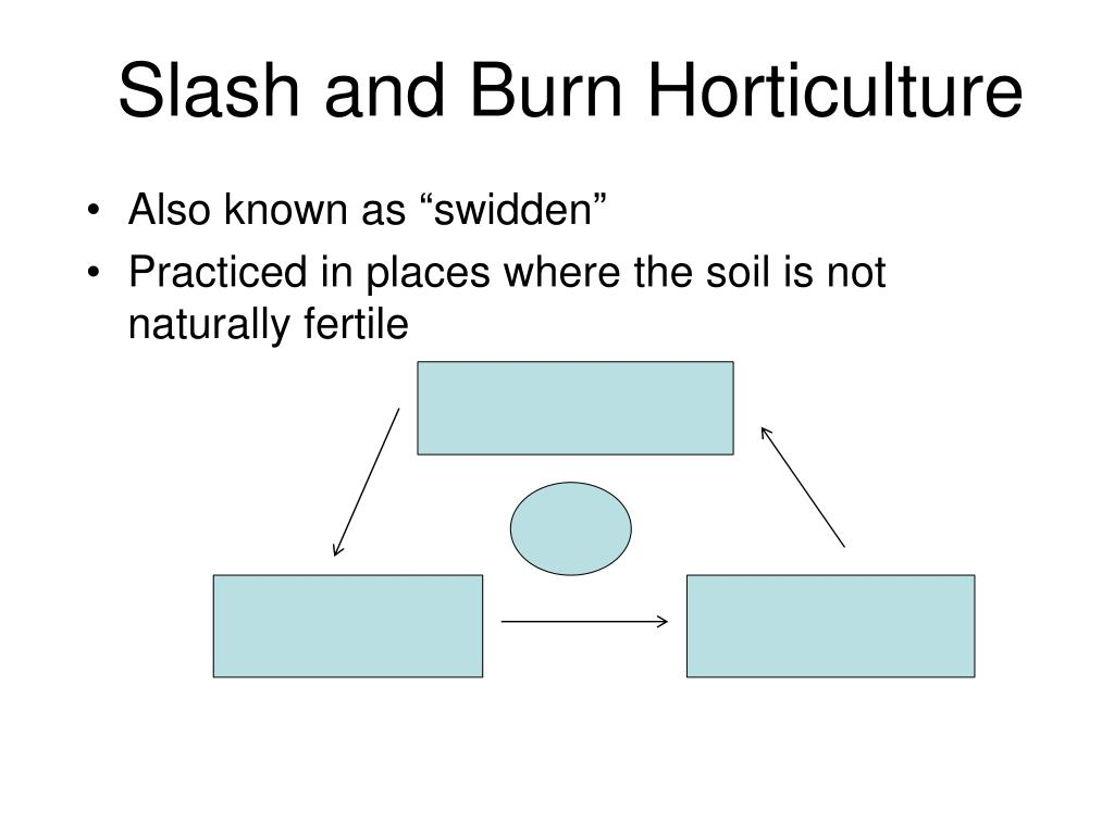 Slash and Burn Horticulture