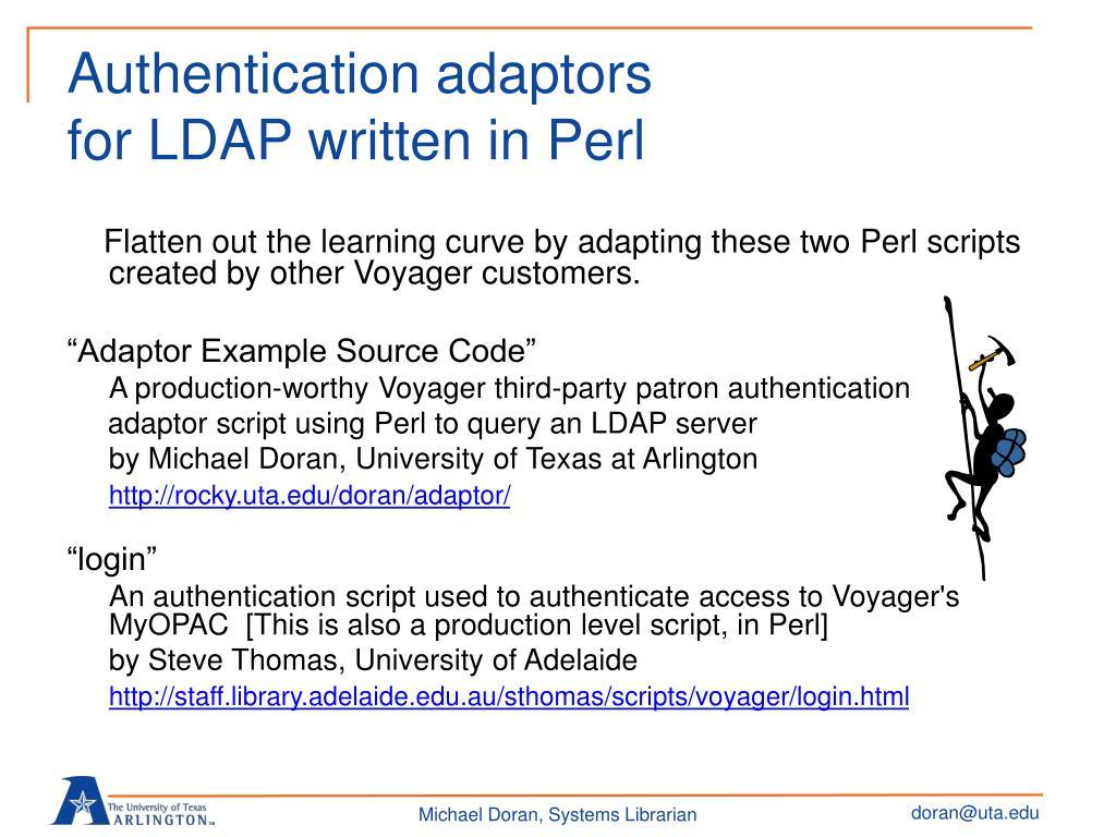 Authentication adaptors