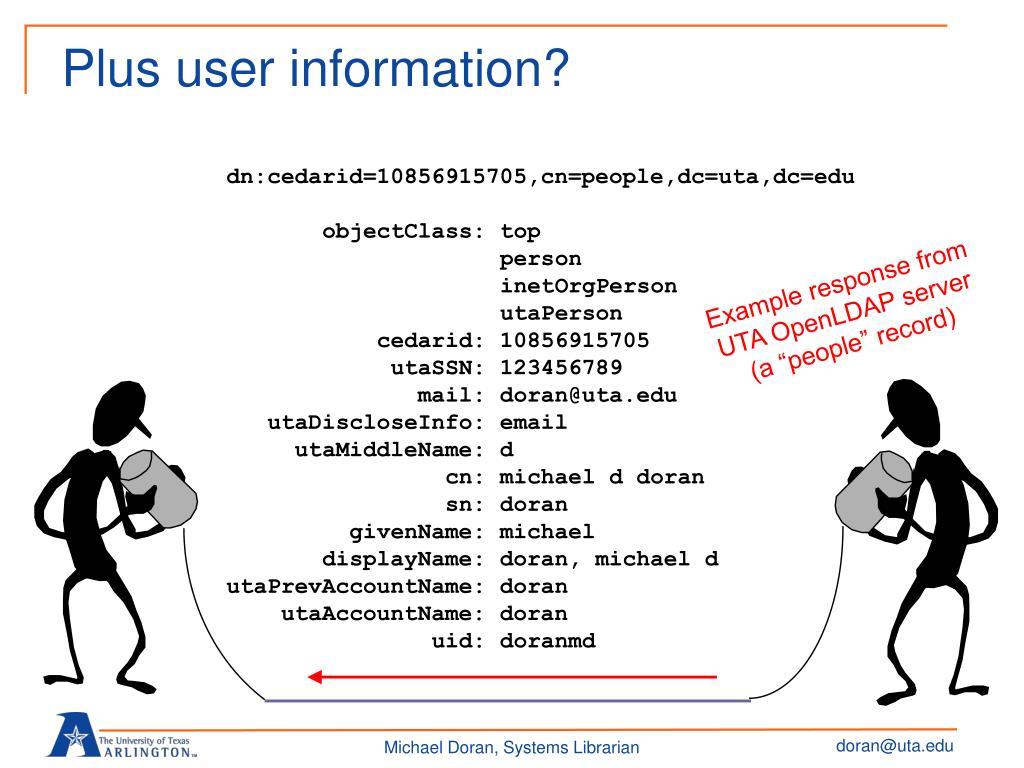 Plus user information?
