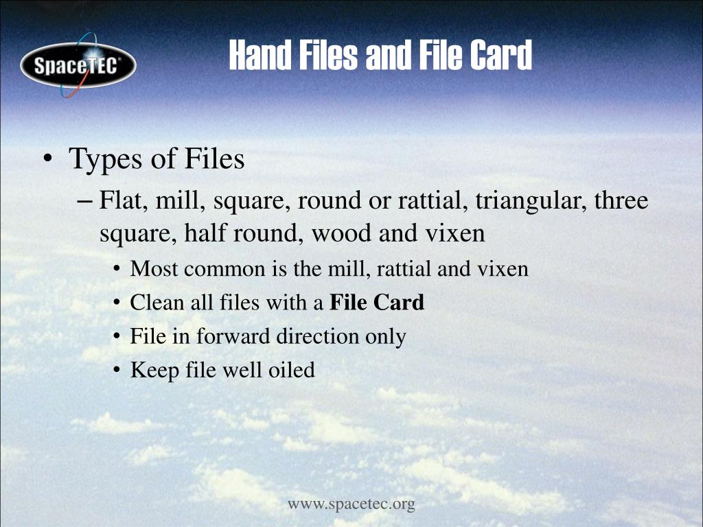 Hand Files and File Card