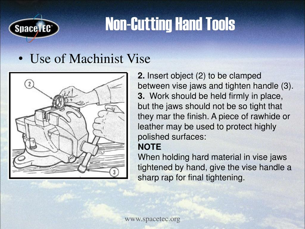 Use of Machinist Vise