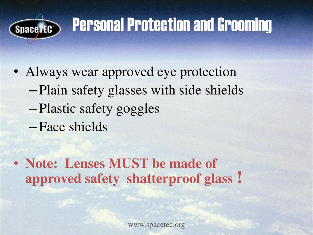 Personal Protection and Grooming