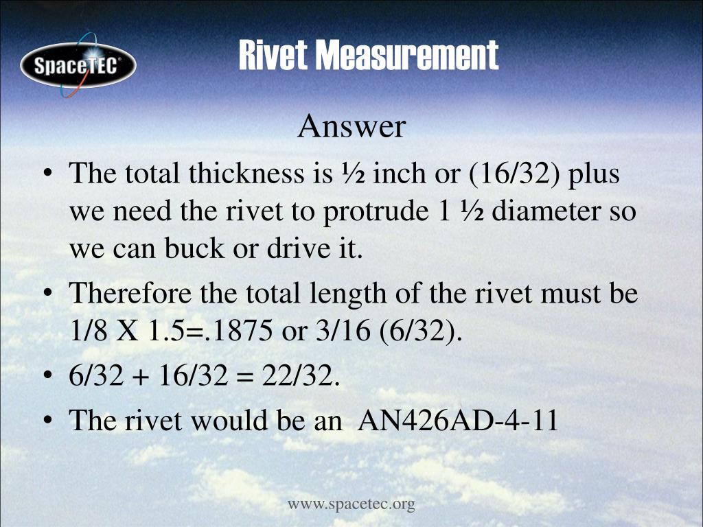 Rivet Measurement