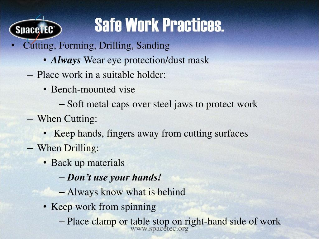 Safe Work Practices.