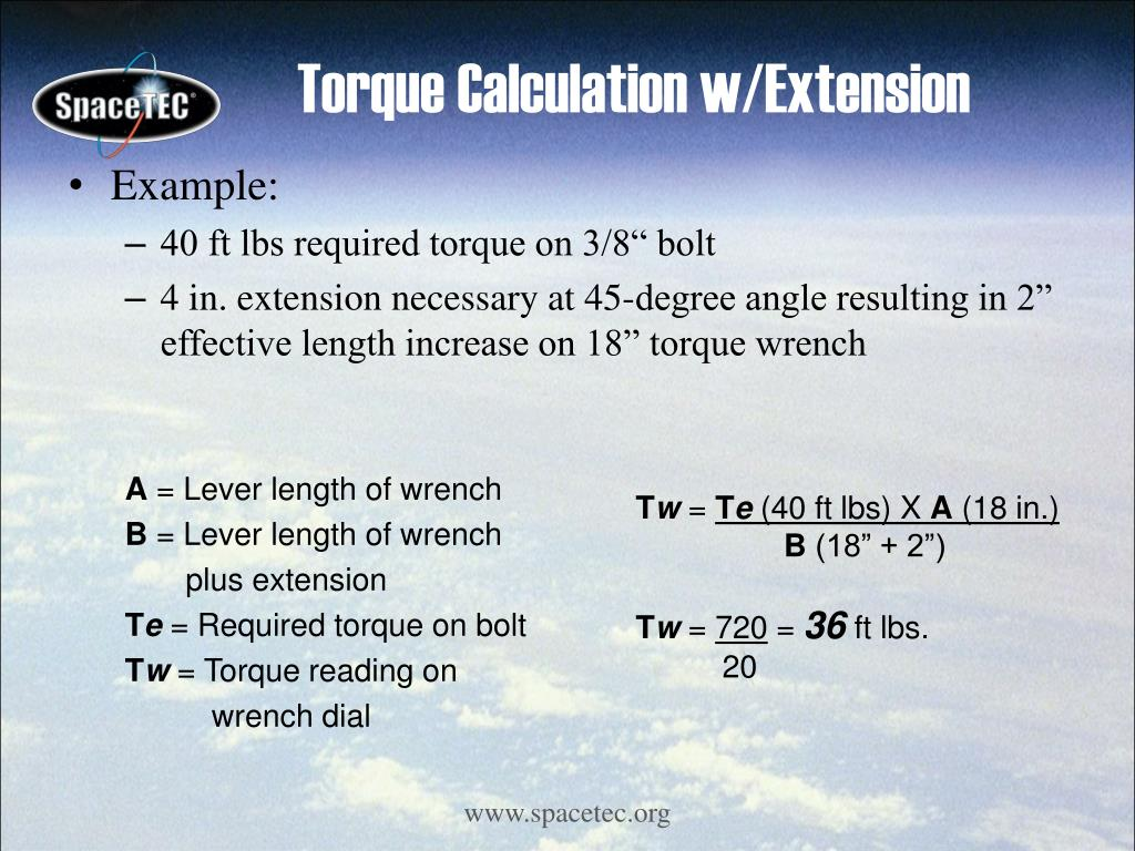Torque Calculation w/Extension