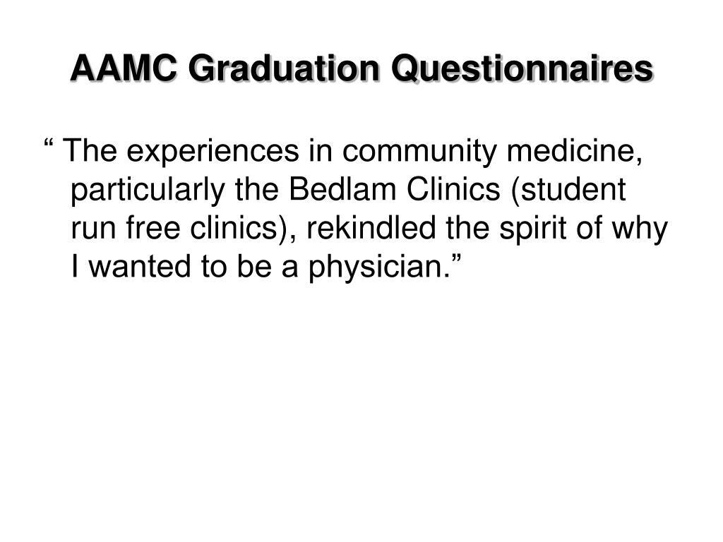 AAMC Graduation Questionnaires