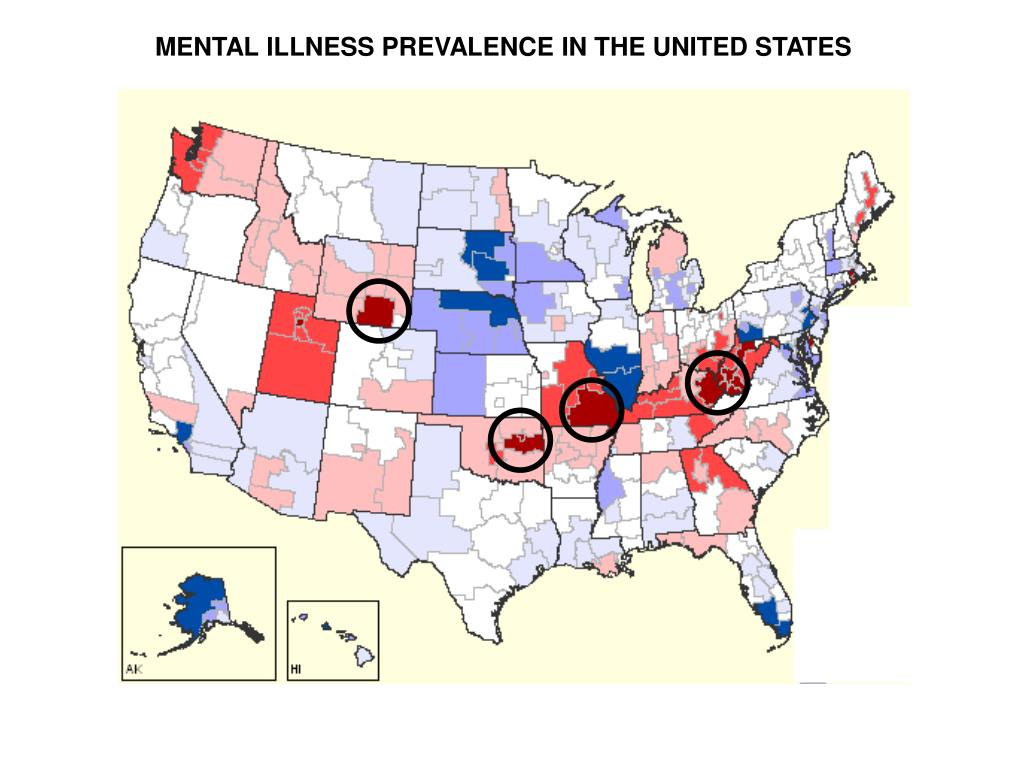 MENTAL ILLNESS PREVALENCE IN THE UNITED STATES