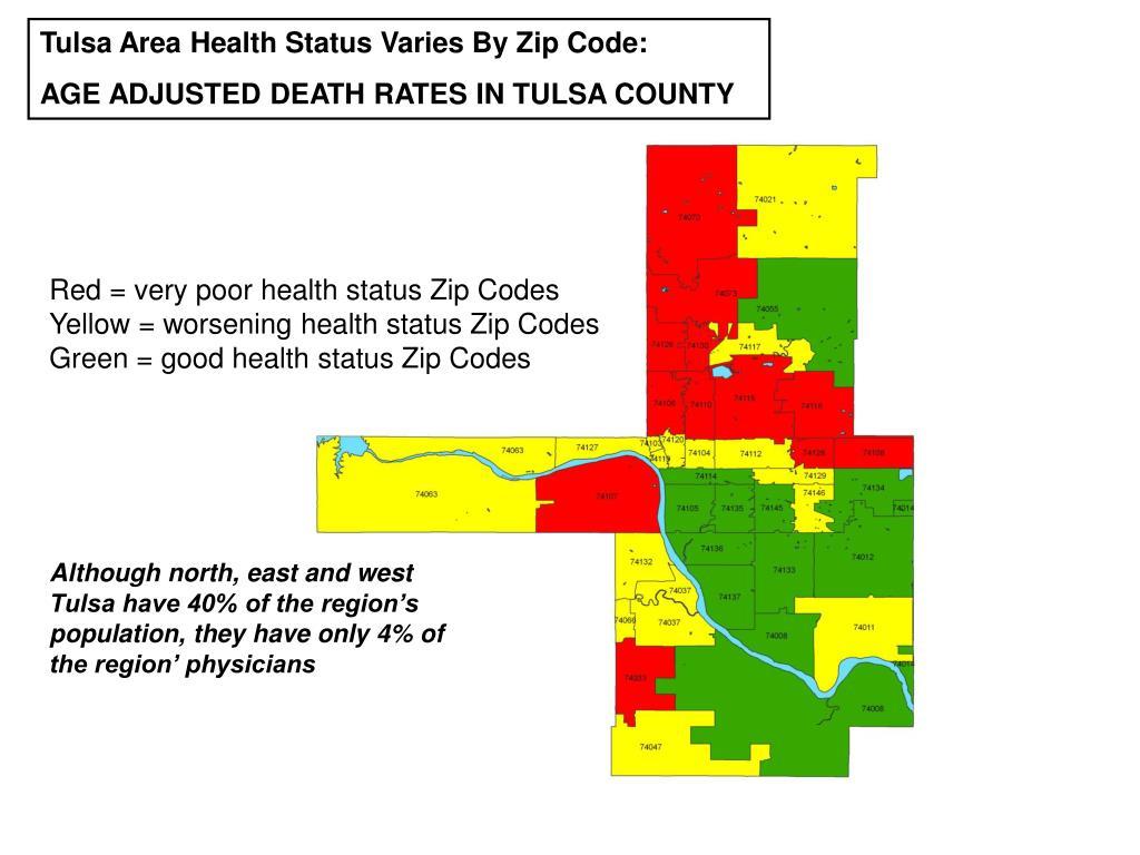 Tulsa Area Health Status Varies By Zip Code: