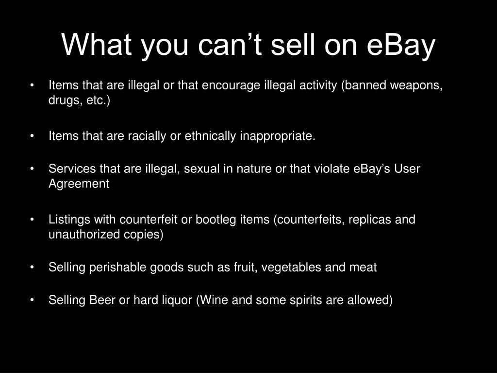 What you can't sell on eBay