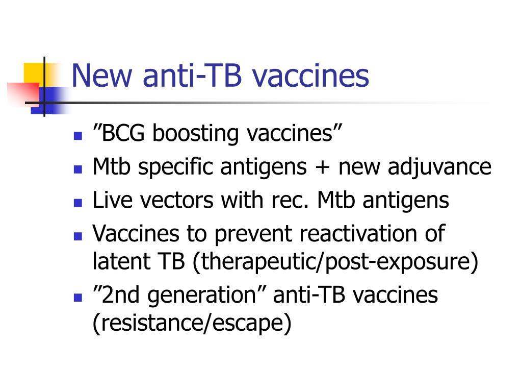 New anti-TB vaccines