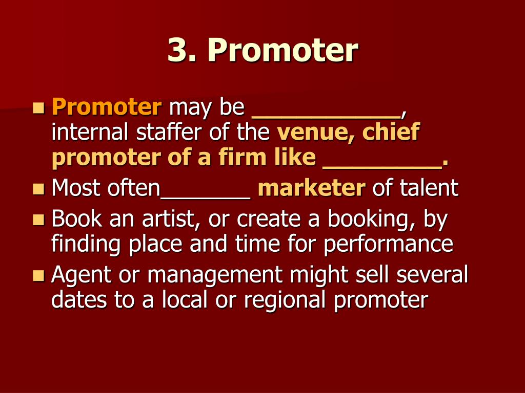 3. Promoter