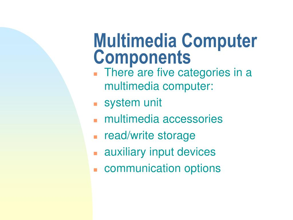 Multimedia Computer Components