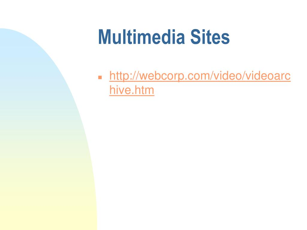 Multimedia Sites