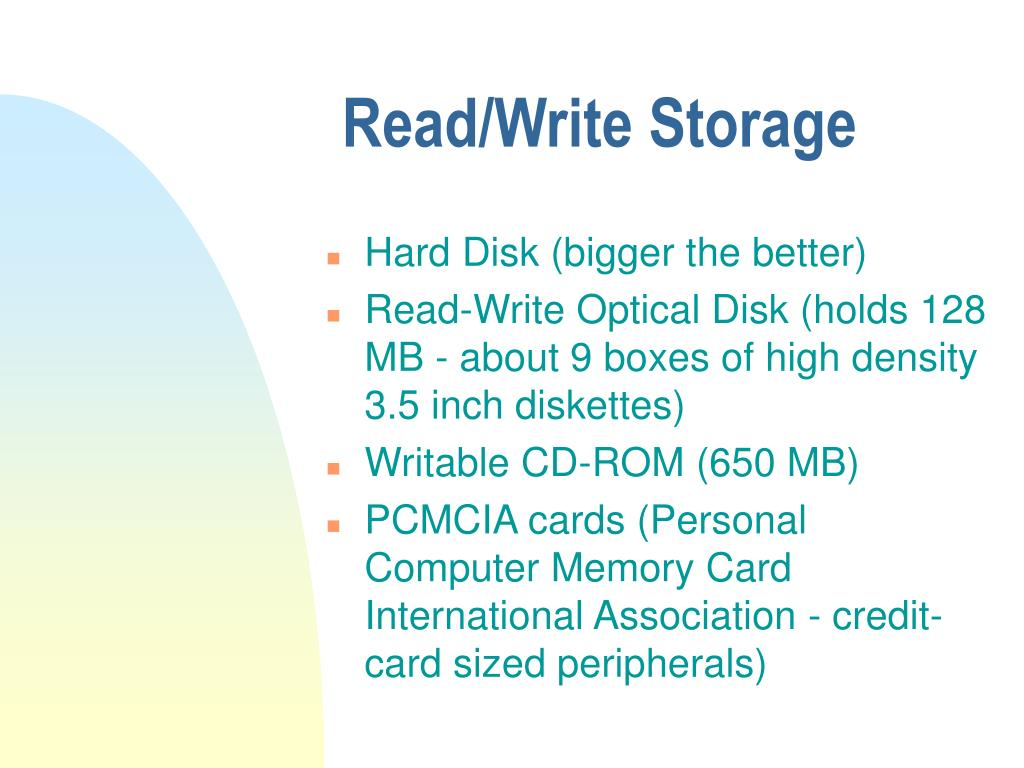 Read/Write Storage