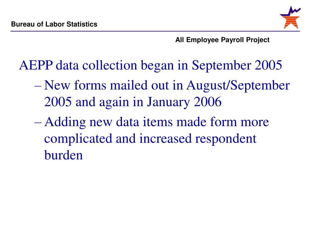 AEPP data collection began in September 2005
