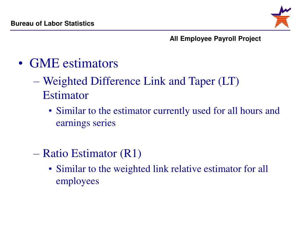 GME estimators