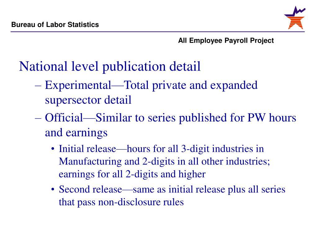 National level publication detail