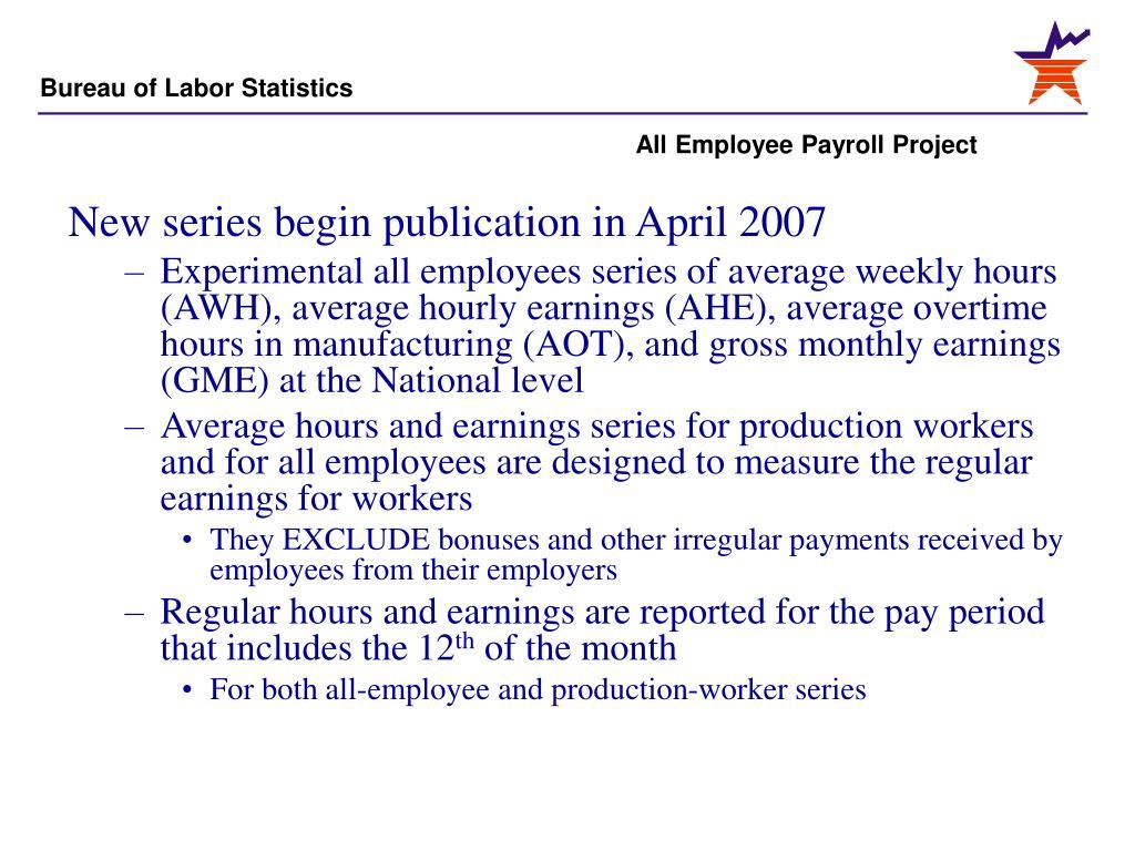 New series begin publication in April 2007