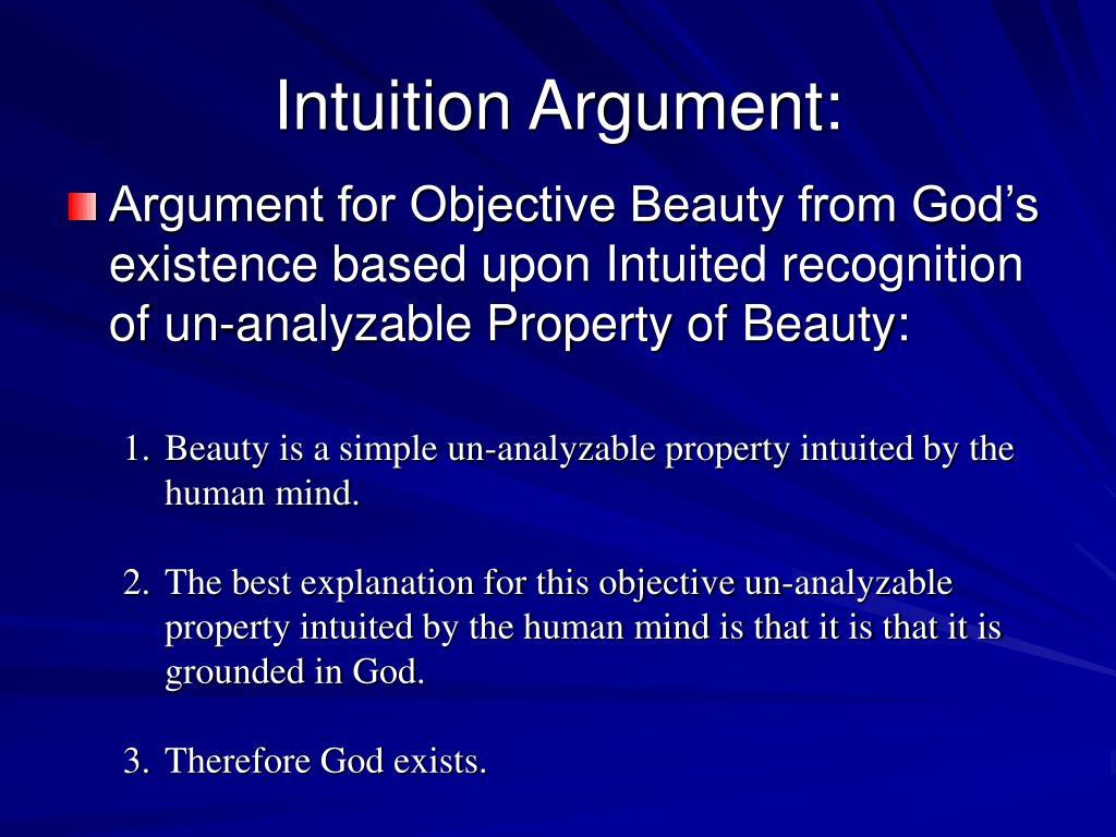 Intuition Argument: